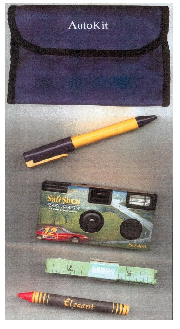 car accident reports kit picture