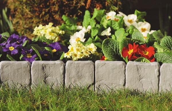 Garden Lawn Edging Stone Look (10Pcs) picture
