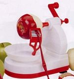 apple peeler starfrit red and white model