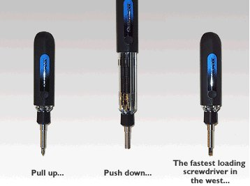 Auto Load Six In One Magnetic Bit Screwdriver picture