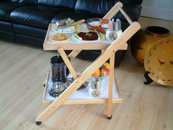 Folding Wooden Trolley picture