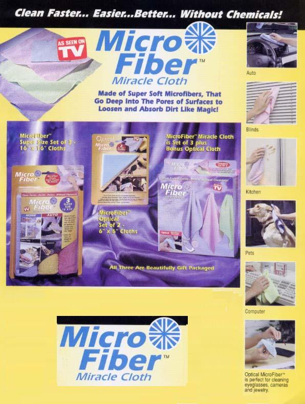 MICROFIBRE MIRACLE CLOTHS-4 PC. SET picture