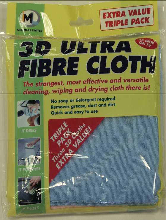 3 Large Microfibre Cloths picture