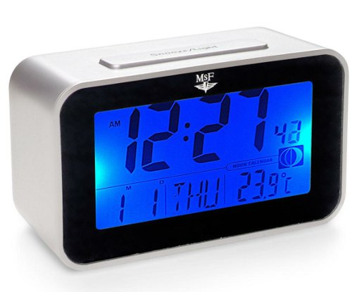 Radio Controlled Clocks Large Screen LCD Alarm Clock picture
