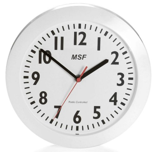Radio Controlled Clocks Ten Inch Wall Clock White picture