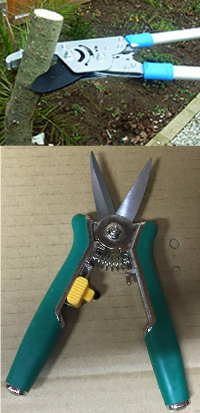 Ratchet Loppers and Garden Snips Set picture