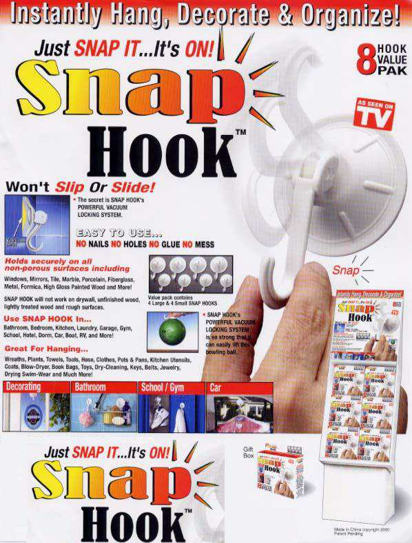 snap hooks vacuum suction hooks picture