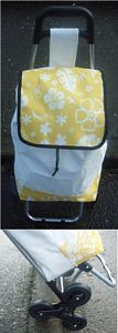 Tri Wheel Stair Climbing Shopping Trolley Cream Yellow picture click to read more