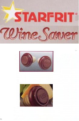 Wine saver stoppers from Starfrit Kitchenware